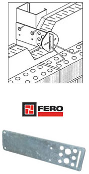 Fero Slotted side mounted stud tie