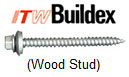 Buildex Wood Stud Tru-Grip Fastener
