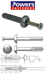 Powers Fastener Expansion pins